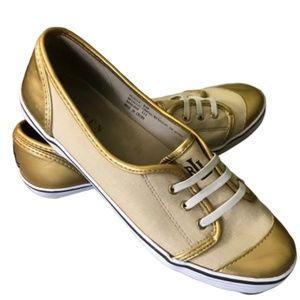 Ralph Lauren Estella Metallic Canvas Sneaker 8.5